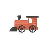 Flat icon - Locomotive toy