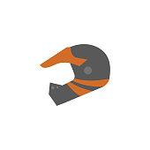 Flat icon - Motorcycle helmet
