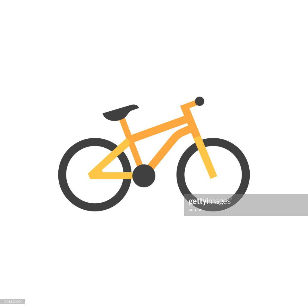 Flat icon - Mountain bike