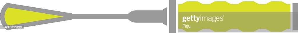 Flat Icon of Chisel on White Background