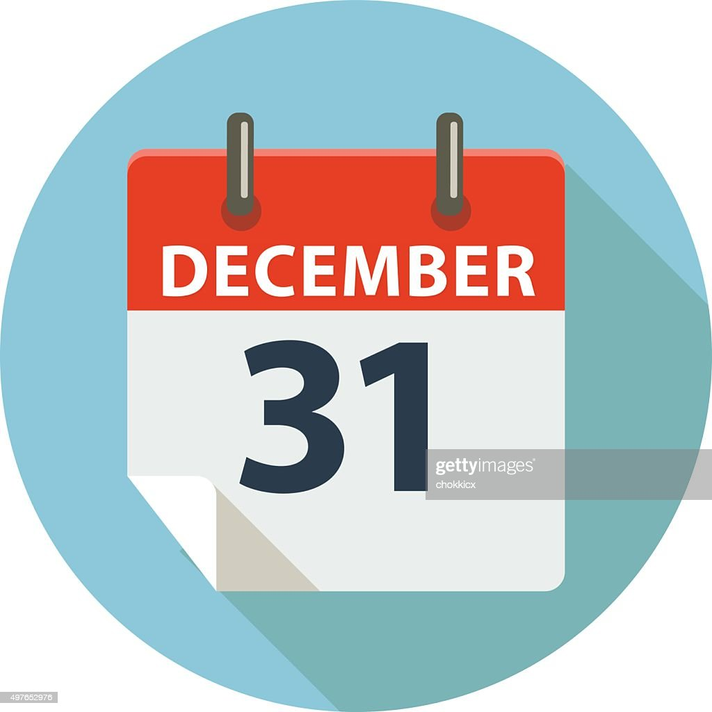 Flat Icon of End Year Day