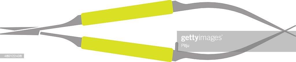 Flat Icon of Needle Holder on White Background