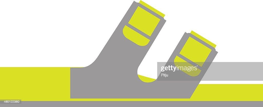 Flat Icon of Orthopedic Shoe Isolated on White Background