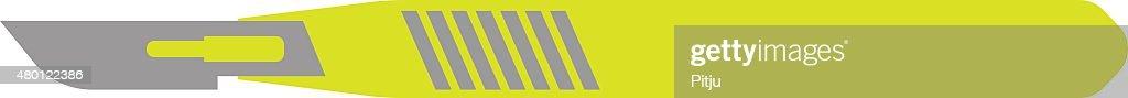 Flat Icon of Scalpel  on White Background