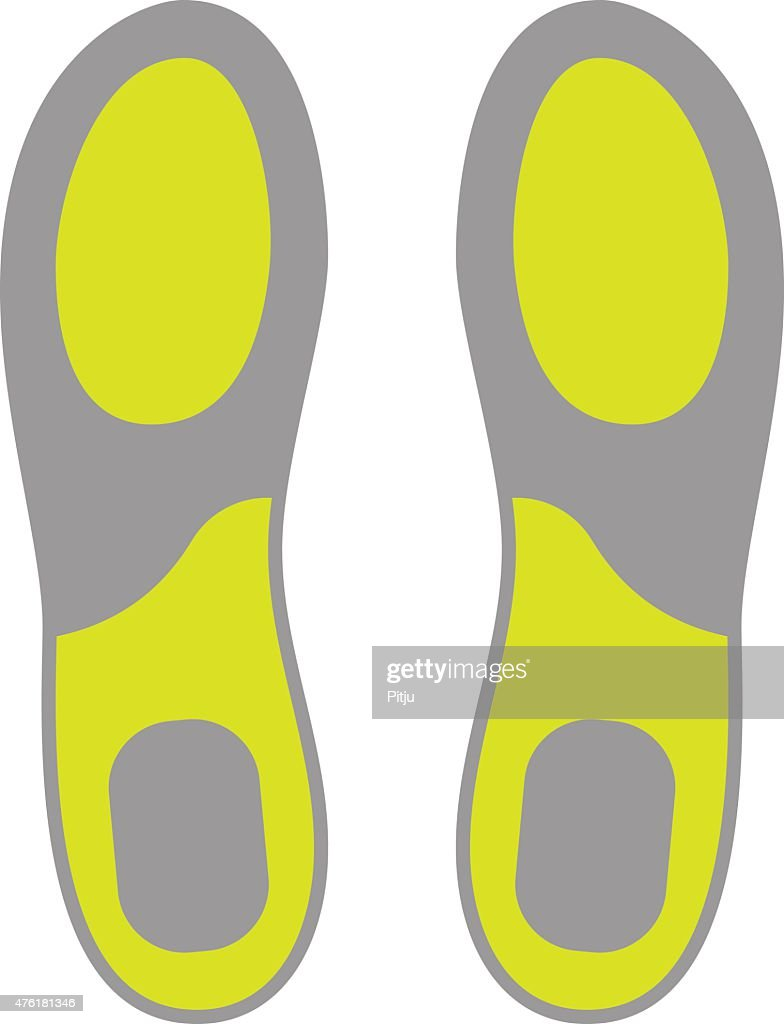 Flat Icon of Shoe Insoles Isolated on White Background