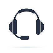 Flat icon of support. Sign the call center. Contact technical symbol. Call and we will reply to you.