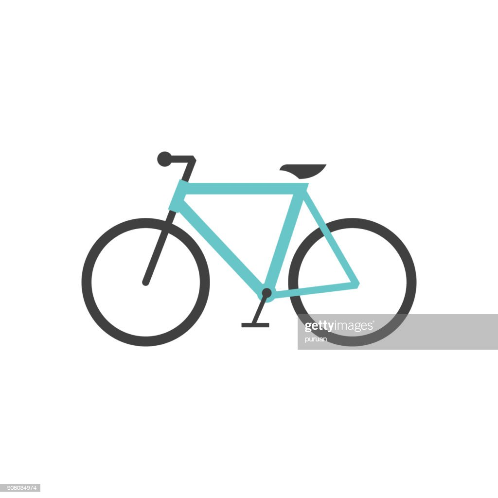 Flat icon - Road bicycle