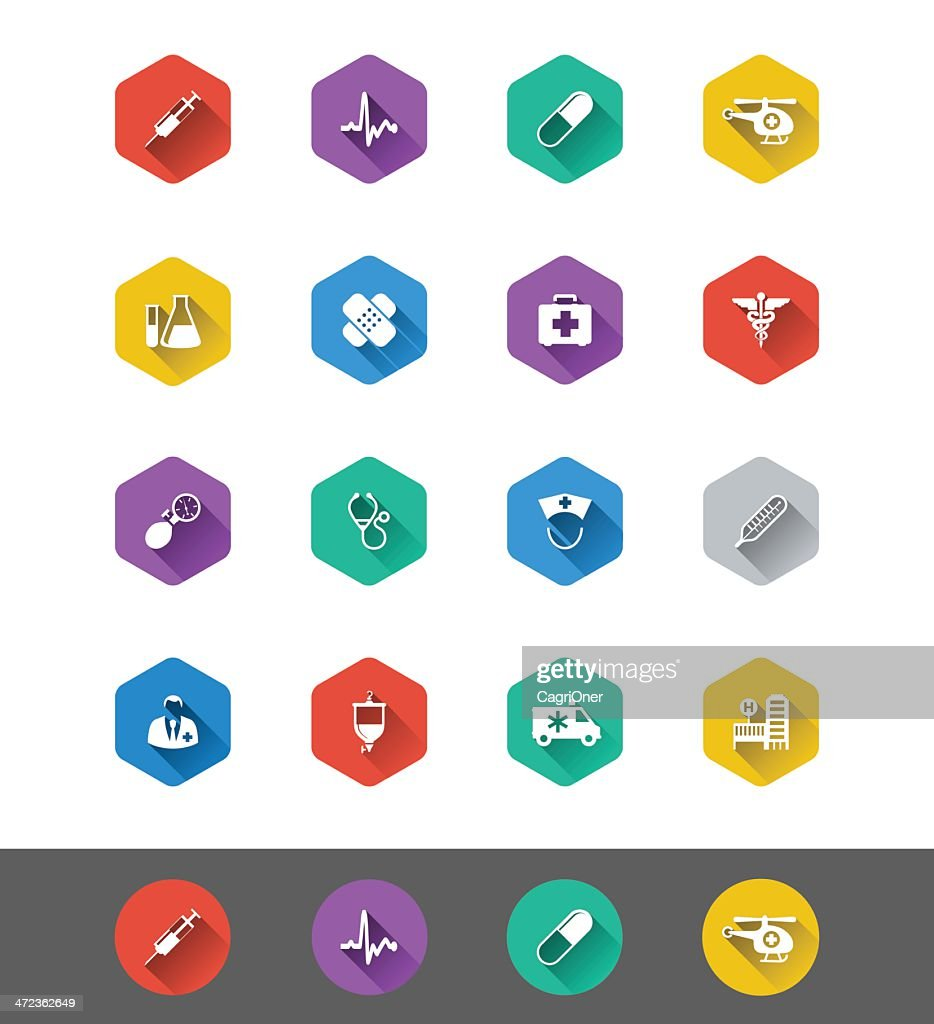 Flat Icon Series: Medical and Health Icons