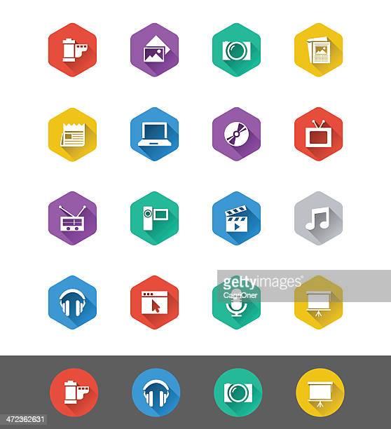 Flat Icon Series: Multimedia Icons