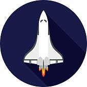 flat icon space Shuttle