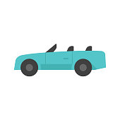 Flat icon - Sport car convertible