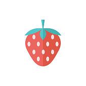 Flat icon - Strawberry chocolate