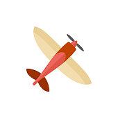 Flat icon - Vintage airplane