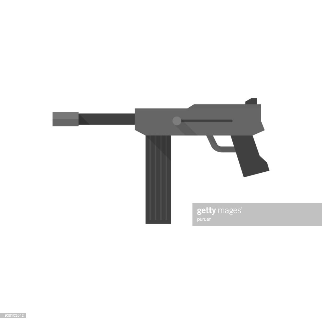 Flat icon - Vintage Firearm