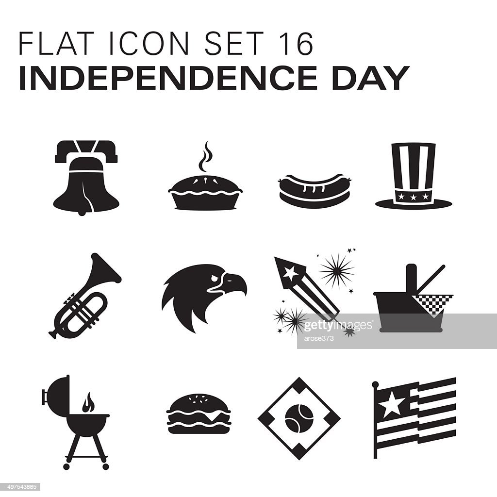 Flat icons 16 - Independence Day/Summer : stock illustration
