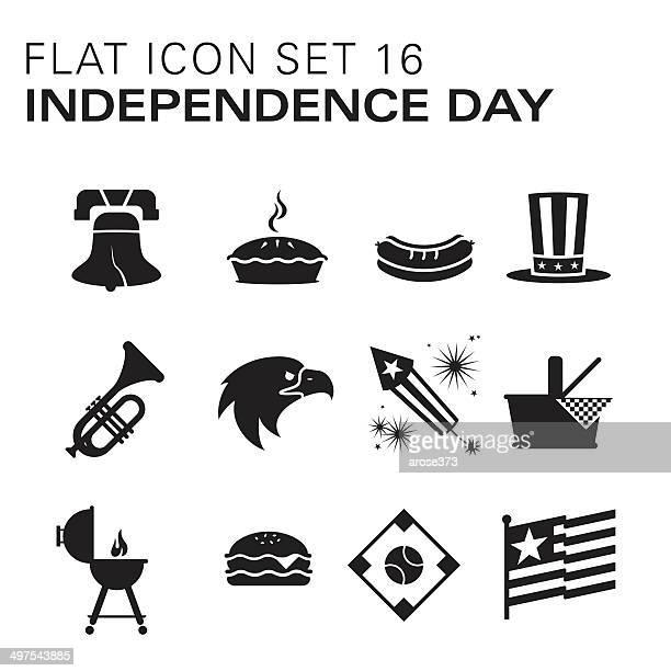 Flat icons 16 - Independence Day/Summer