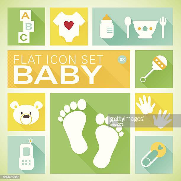 Flat icons 3 Baby Neutral