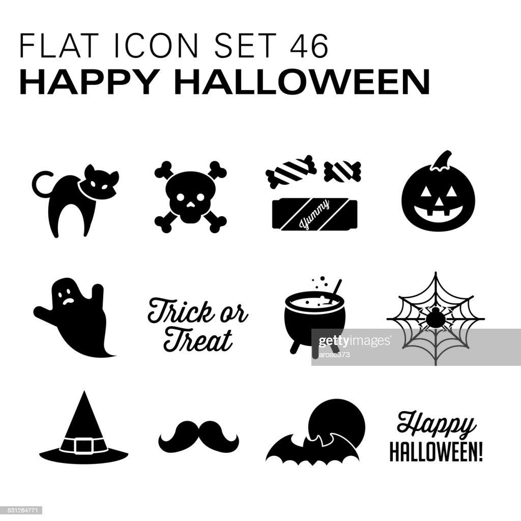Flat icons 46 Halloween - Black