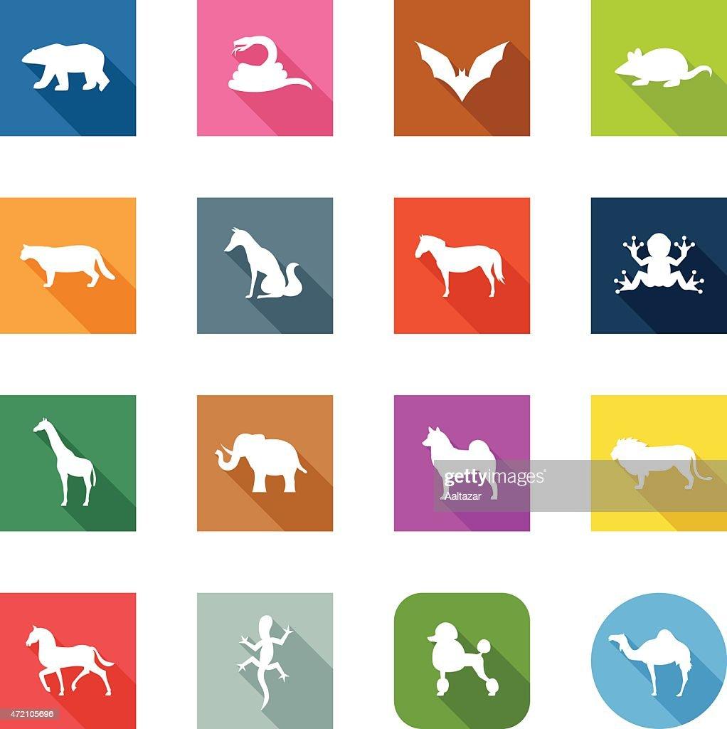 Flat Icons - Animals