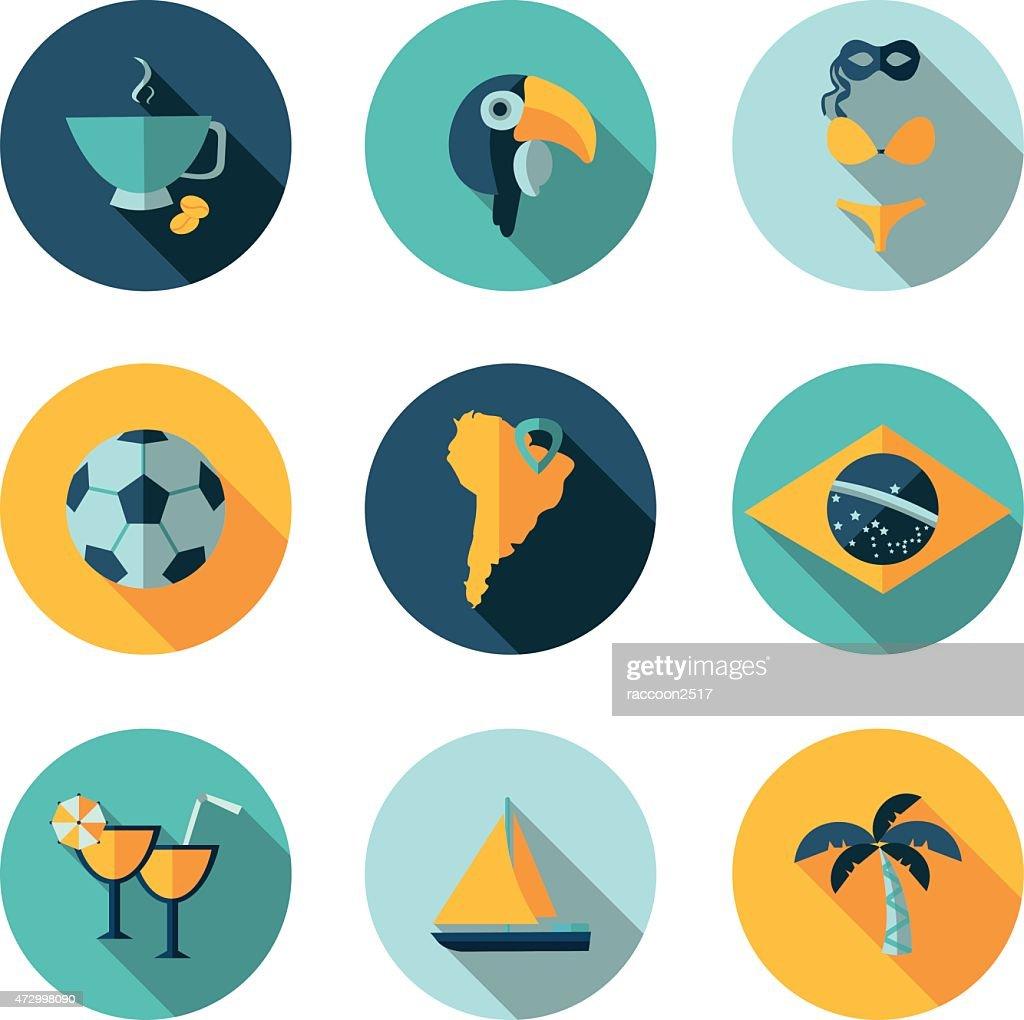 flat icons  Brazil