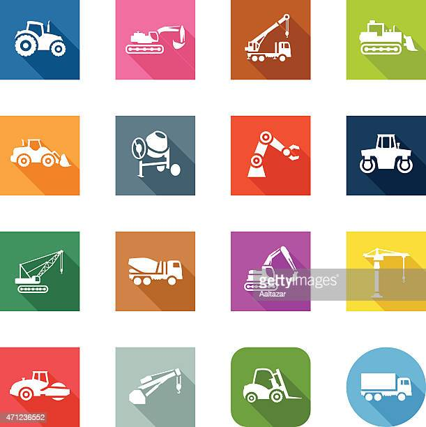 Flat Icons - Construction Machines