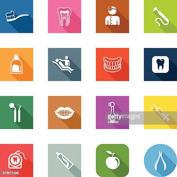 flat icons - dental care - mouthwash stock illustrations, clip art, cartoons, & icons