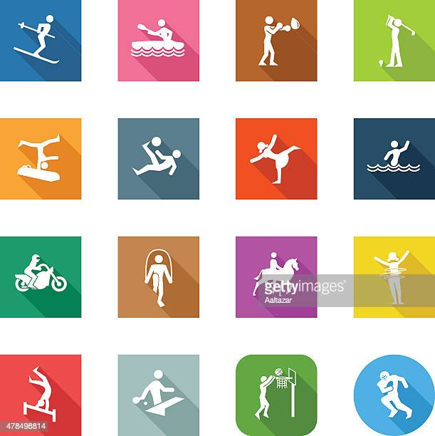 Flat Icons - Different Sports
