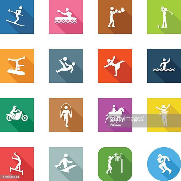 Iconos plana de los diferentes