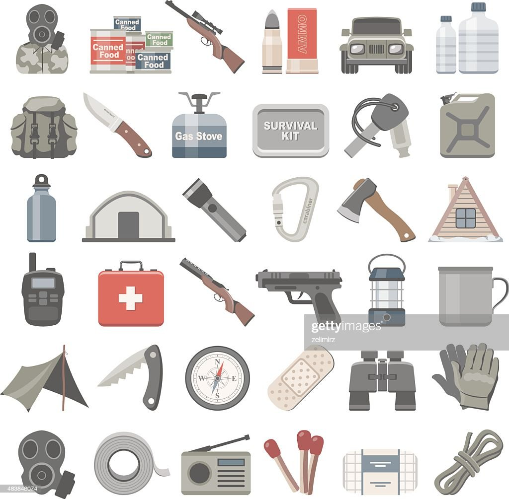 Flat Icons - Doomsday Preppers