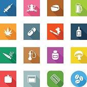 Flat Icons - Drugs