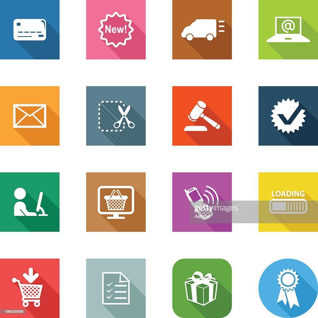 Flat Icons - E-Commerce : stock illustration