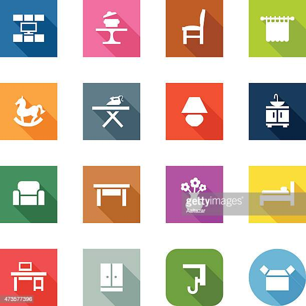 Flat Icons - Furniture Categories