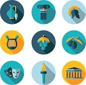 flat icons Greece