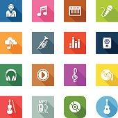 Flat Icons - Music