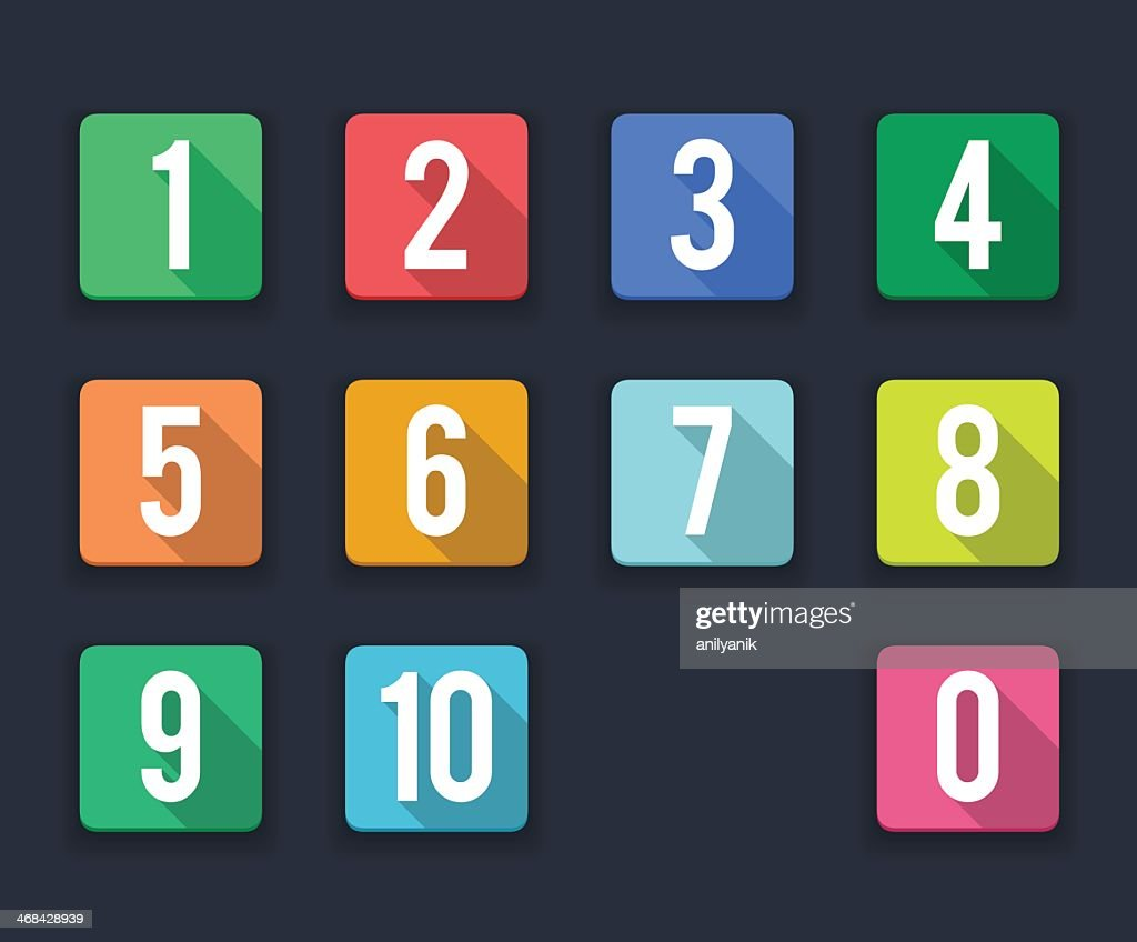 flat icons/ numbers