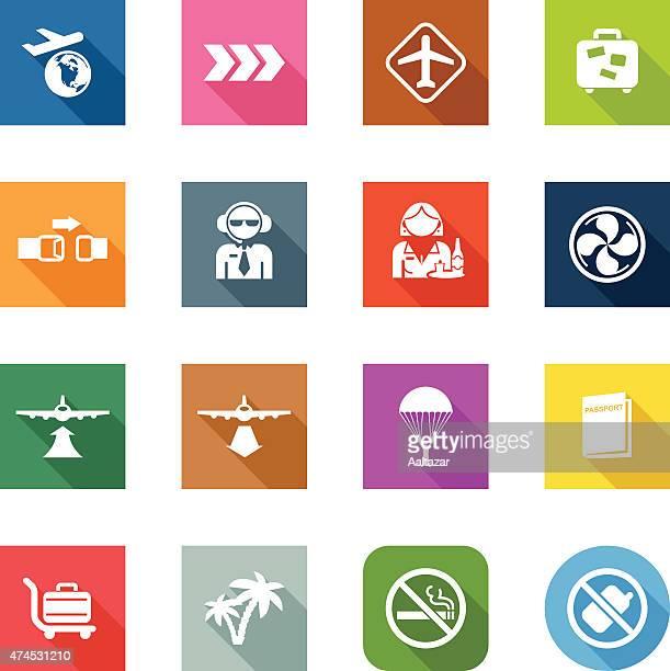 Flat Icons - Plane Travel