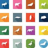 Flat Icons - Polar Animals
