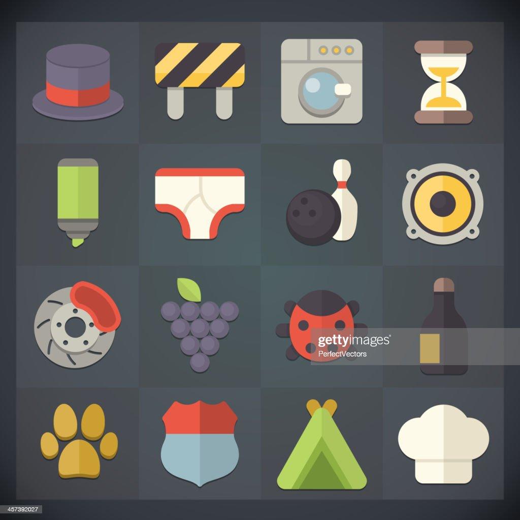 Flat Icons Set 16