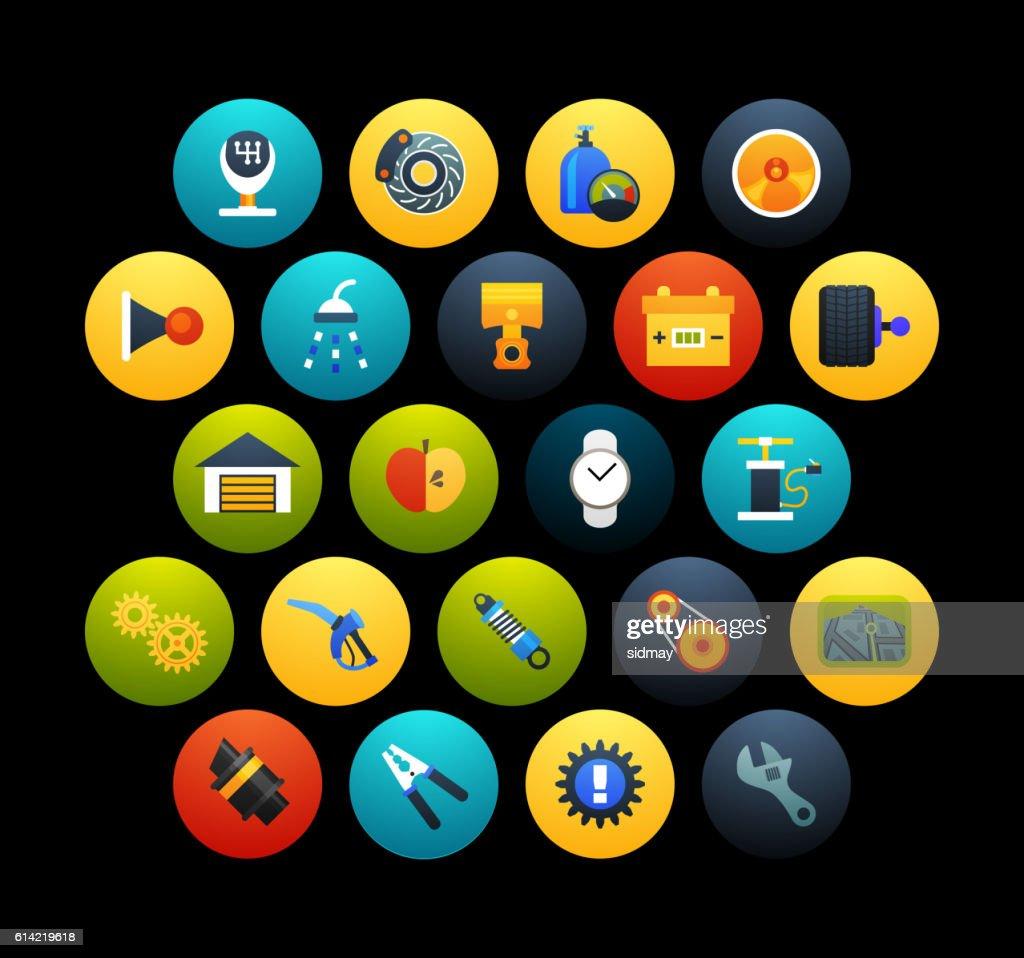 Flat icons set 24