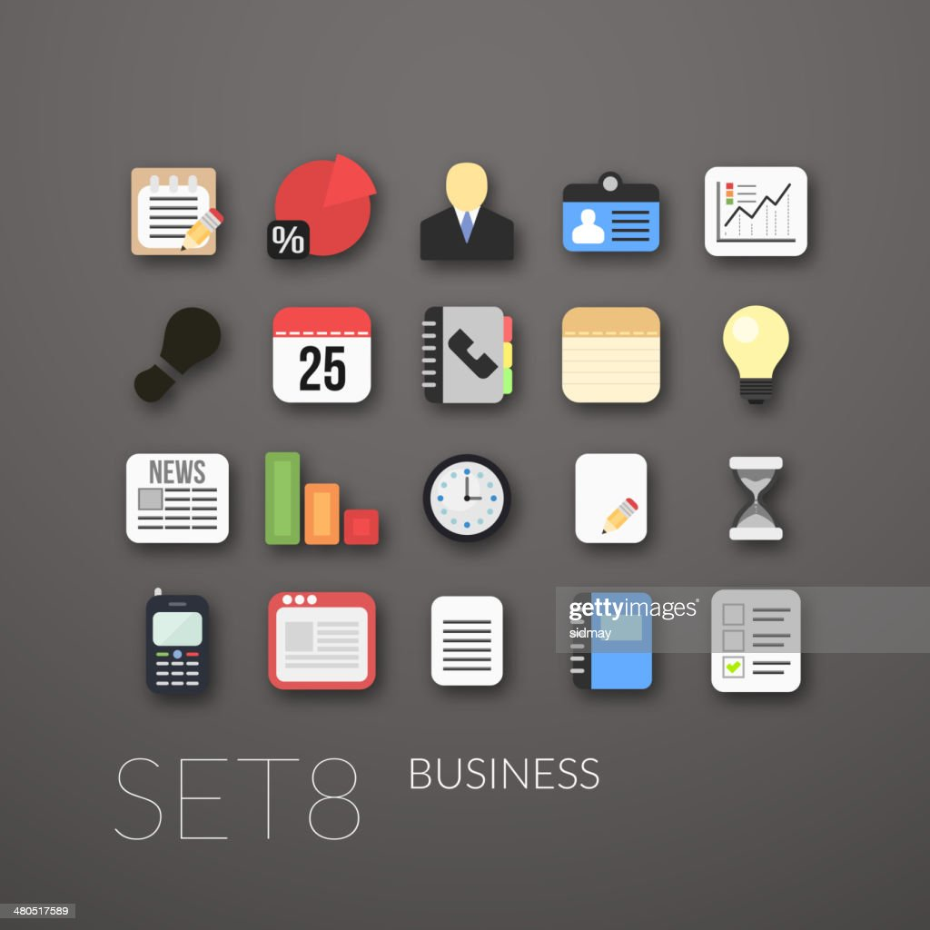 Flat icons set 8