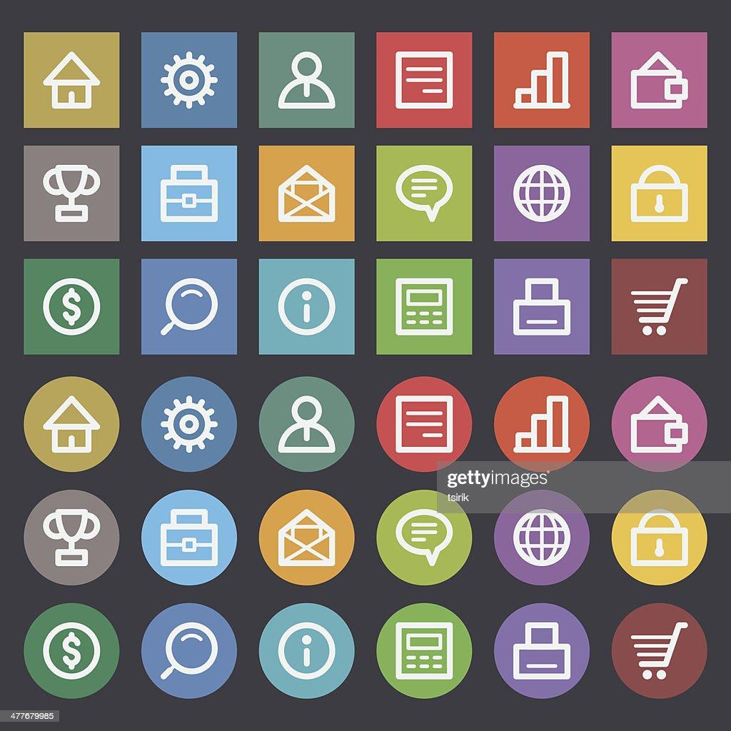 Flat icons set business finance