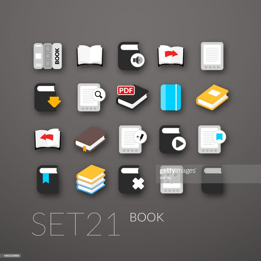 Flat icons set : Vectorkunst