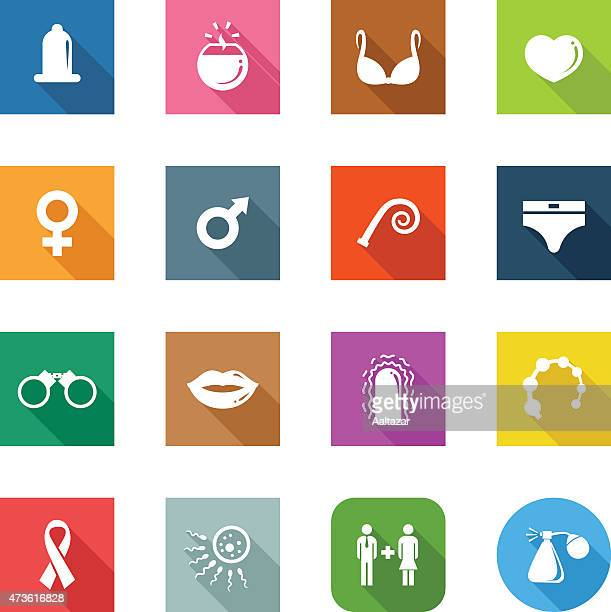 flat icons - sex - x rated stock illustrations, clip art, cartoons, & icons