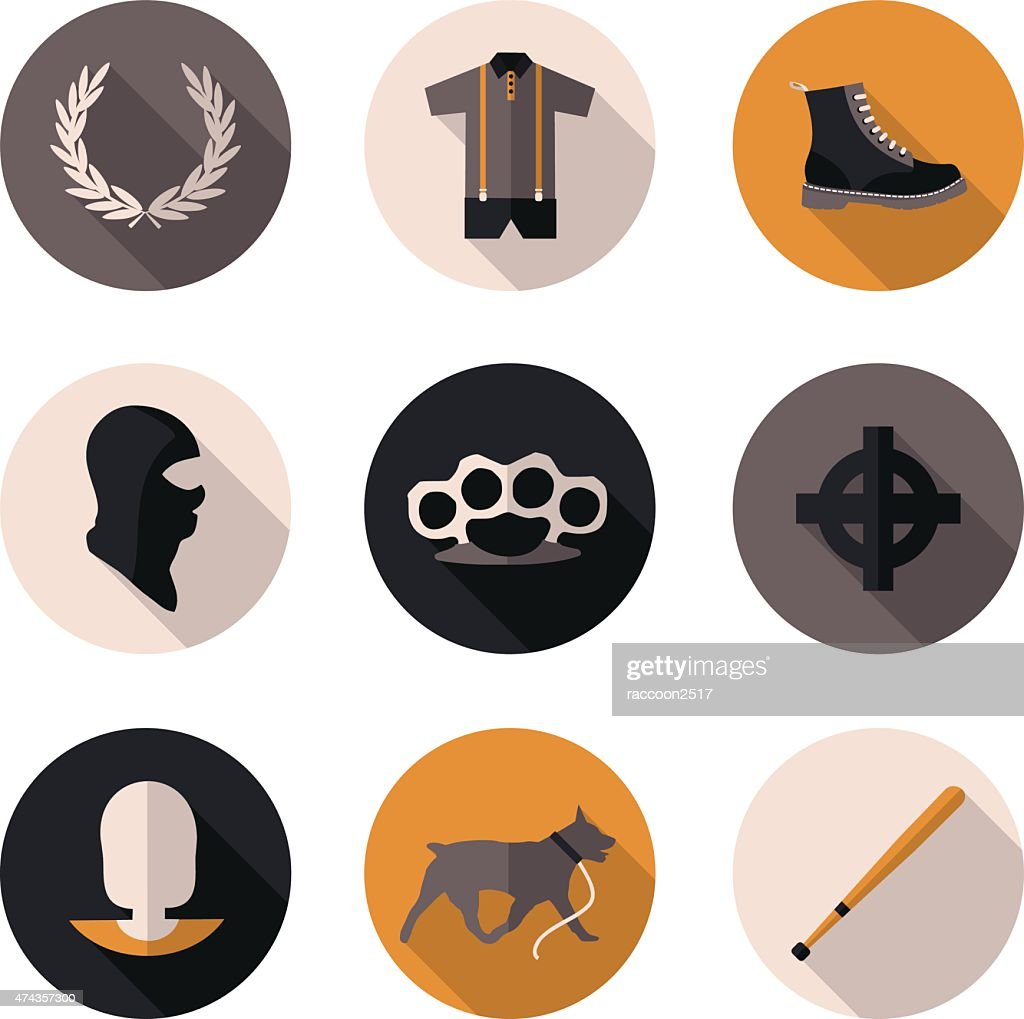 flat icons skinhead