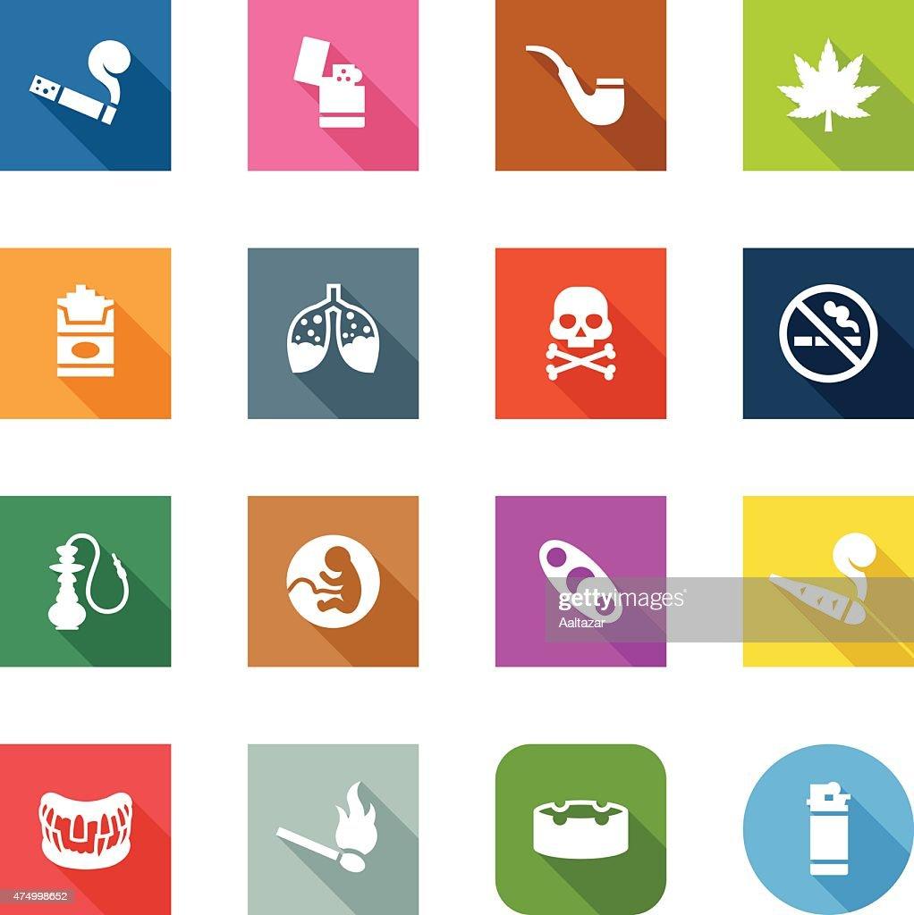Flat Icons - Smoking