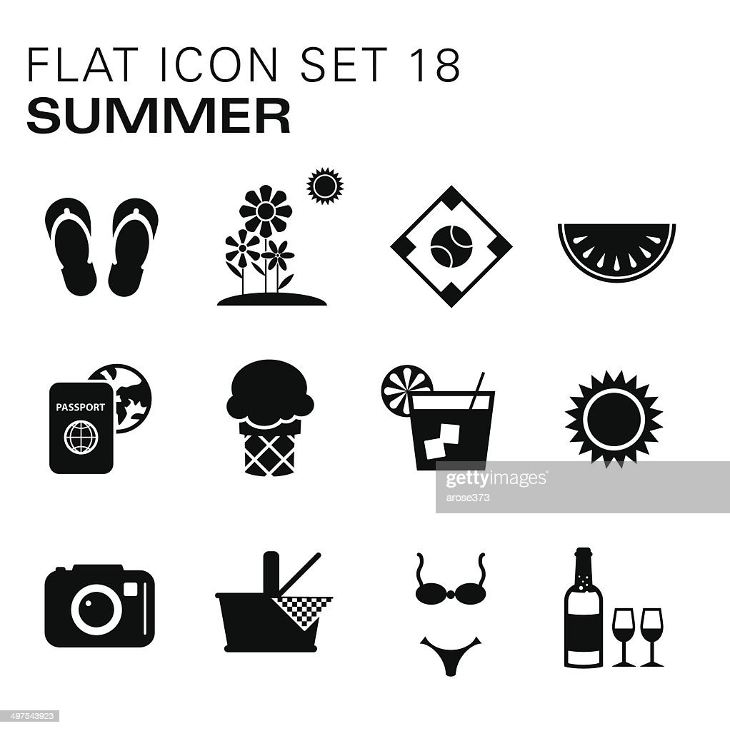flat icons summer high res vector graphic getty images https www gettyimages fi detail illustration flat icons summer royalty free illustration 497543923