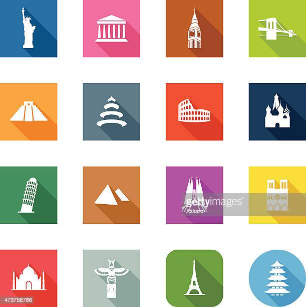 flat icons - travel - brooklyn bridge stock illustrations, clip art, cartoons, & icons