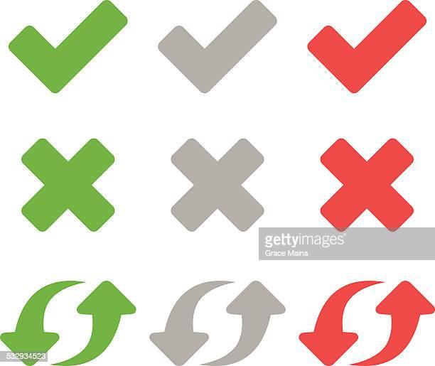 flat icons - vector - cross shape stock illustrations, clip art, cartoons, & icons