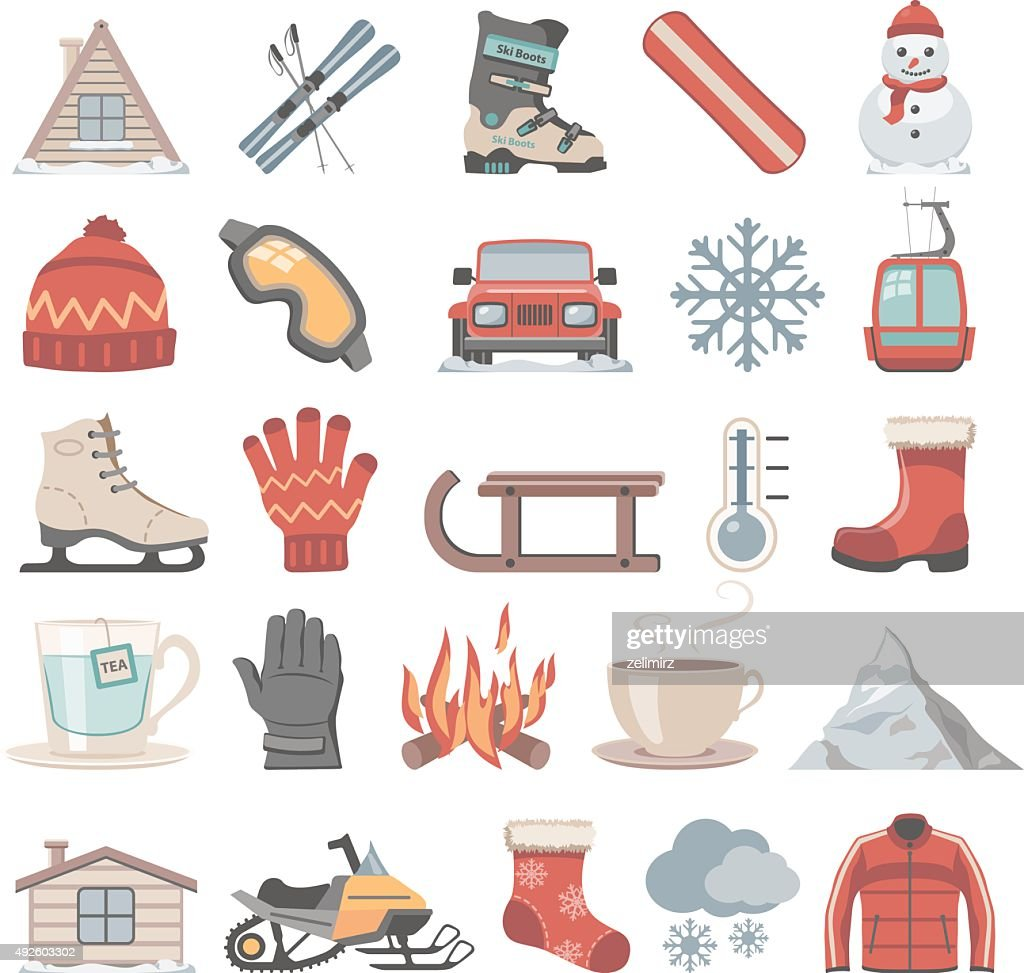 Flat Icons - Winter