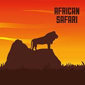 Flat illustration about africa design